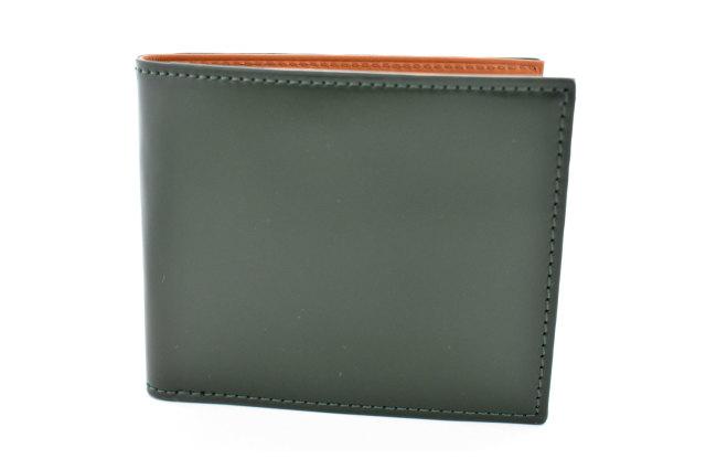 CORDOVAN1957(コードバン1957) 二つ折り財布(小銭入れなし) 「プレリー1957」 NP12318 グリーン 正面