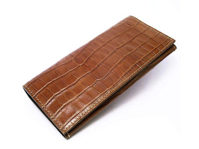 CROCO CROSS(クロコクロス) 長財布 「プレリー1957」 NP14112 チョコ 正面