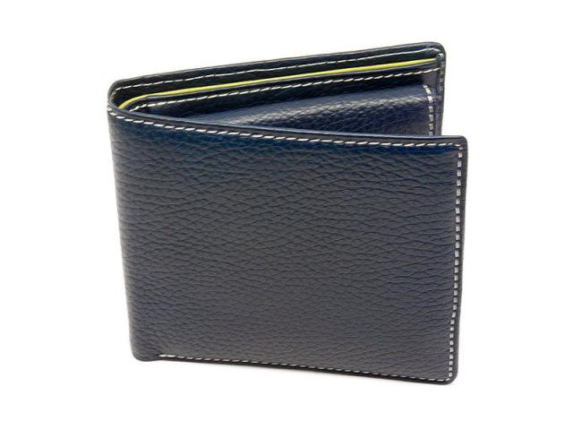 ItalianDeerskin (イタリアンディア) 二つ折り財布(小銭入れあり) 「プレリー1957」 NP17112 コン 正面