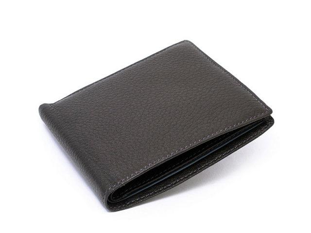 ItalianDeerskin (イタリアンディア) 二つ折り財布(小銭入れなし) 「プレリー1957」 NP17211 クロ 正面