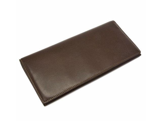 BabySkinKip (ベビースキンキップ) 長財布 「プレリー1957」 NP19015 チョコ 正面