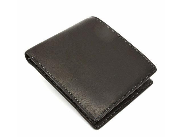 BabySkinKip (ベビースキンキップ) 二つ折り財布(小銭入れあり) 「プレリー1957」 NP19113 クロ 正面