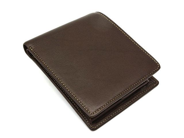 BabySkinKip (ベビースキンキップ) 二つ折り財布(小銭入れあり) 「プレリー1957」 NP19113 チョコ 正面