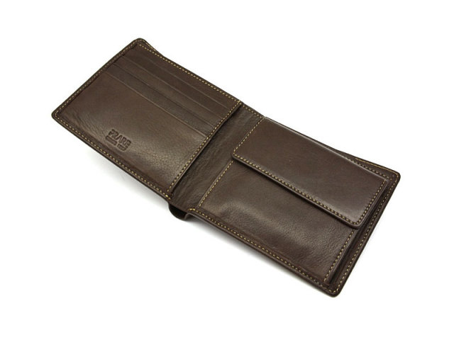 BabySkinKip (ベビースキンキップ) 二つ折り財布(小銭入れあり) 「プレリー1957」 NP19113 チョコ 内作り