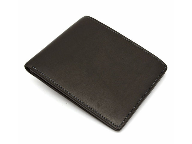 BabySkinKip (ベビースキンキップ) 二つ折り財布(小銭入れなし) 「プレリー1957」 NP19211 クロ 正面