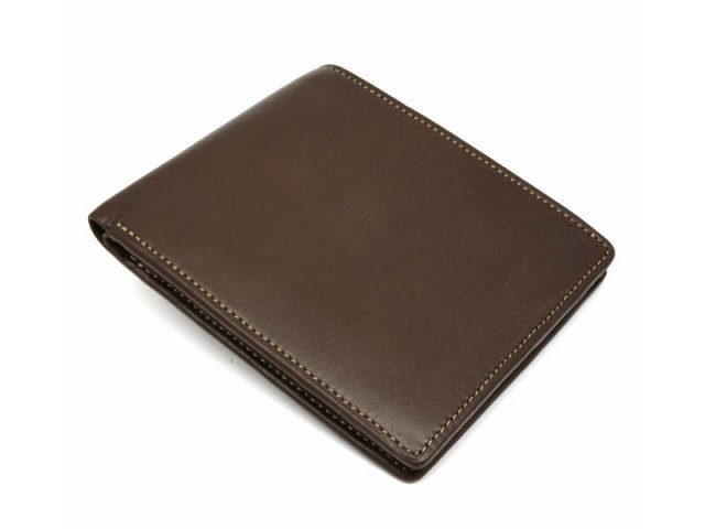BabySkinKip (ベビースキンキップ) 二つ折り財布(小銭入れなし) 「プレリー1957」 NP19211 チョコ 正面