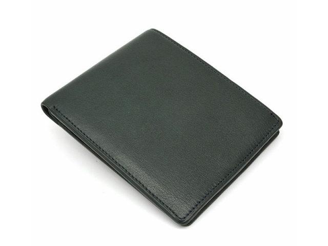 BabySkinKip (ベビースキンキップ) 二つ折り財布(小銭入れなし) 「プレリー1957」 NP19211 グリーン 正面