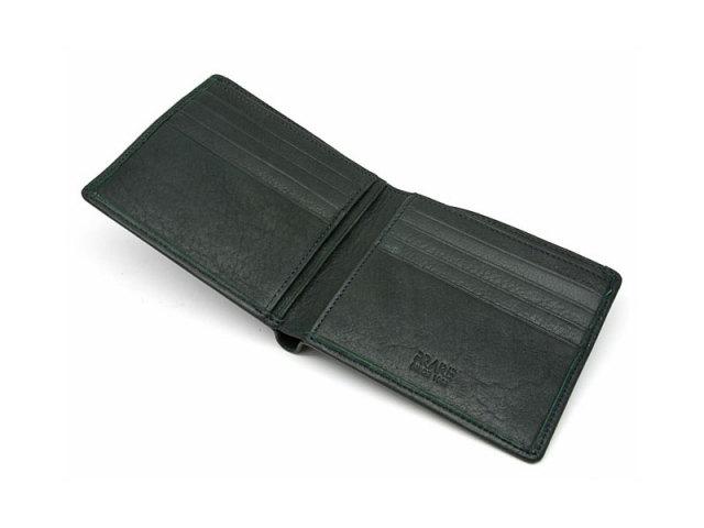 BabySkinKip (ベビースキンキップ) 二つ折り財布(小銭入れなし) 「プレリー1957」 NP19211 グリーン 内作り