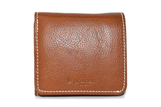 FAV(ファボ) 二つ折り財布(BOX小銭入れあり) 「ル・プレリーギンザ 」 NP20311 キャメル 正面
