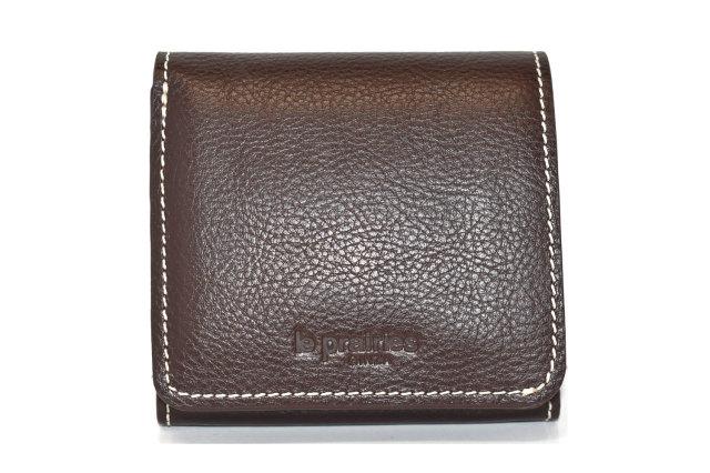 FAV(ファボ) 二つ折り財布(BOX小銭入れあり) 「ル・プレリーギンザ 」 NP20311 チョコ 正面