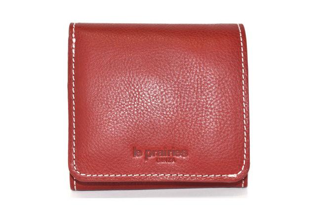 FAV(ファボ) 二つ折り財布(BOX小銭入れあり) 「ル・プレリーギンザ 」 NP20311 アカ 正面