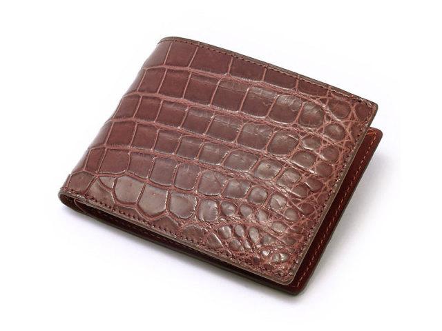 Crocodile (クロコダイル) 二つ折り財布(小銭入れあり) 「革巧」 NP31150 マロン 正面