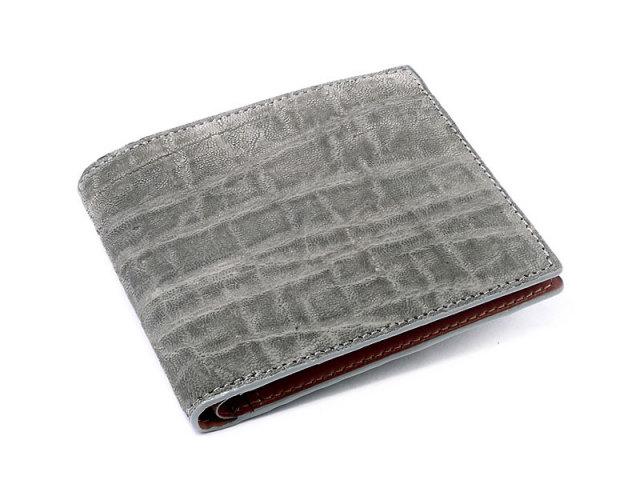elephant (エレファント) 二つ折り財布(小銭入れなし) 「革巧」 NP35225 グレー 正面