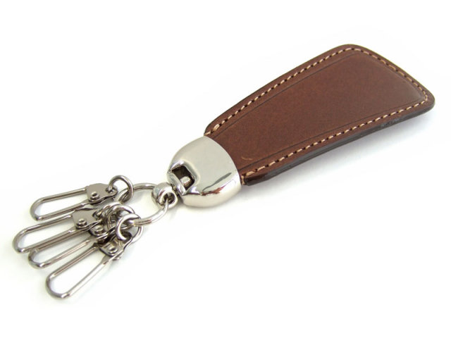 Gadget(ガジェット) 靴べらキーホルダー 「プレリー1957」 NP44935 チョコ 正面