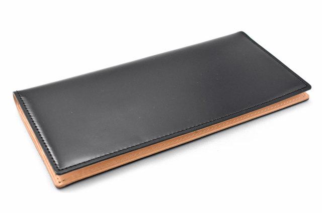 ナチュラルコードバン スマートコンパクト 長財布 「プレリーギンザ」 NP47030 クロ 正面