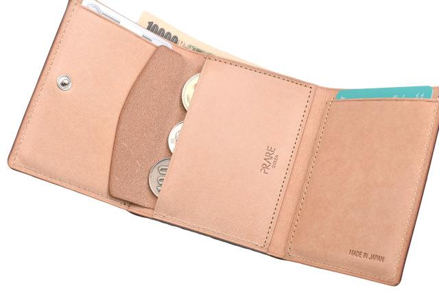 ナチュラルコードバン スマートコンパクト 三つ折り財布(小銭入れあり) 「プレリーギンザ」 NP47122 イメージ画像