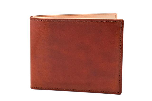 ナチュラルコードバン スマートコンパクト 二つ折り財布(小銭入れなし) 「プレリーギンザ」 NP47222 チョコ 正面