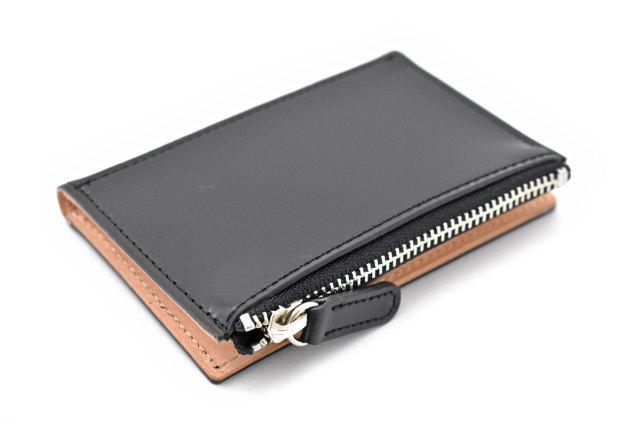 ナチュラルコードバン スマートコンパクト コンパクト財布 「プレリーギンザ」 NP47418 クロ 裏面