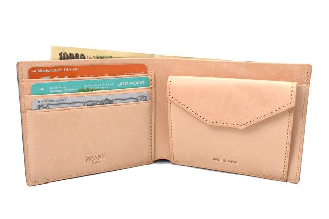 ナチュラルコードバン スマートコンパクト 二つ折り財布(小銭入れあり) 「プレリーギンザ」 NP47724 イメージ画像