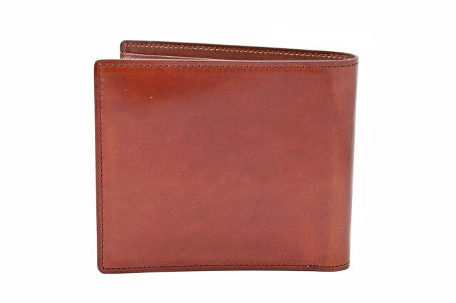 Natural Cordovan(ナチュラルコードバン)  二つ折り財布(小銭入れあり) 「プレリーギンザ」 NP48130 チョコ 裏面