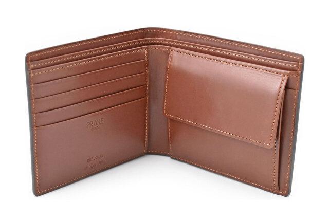 Natural Cordovan(ナチュラルコードバン)  二つ折り財布(小銭入れあり) 「プレリーギンザ」 NP48130 チョコ 内作り