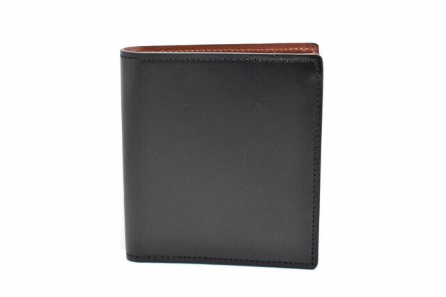 Natural Cordovan(ナチュラルコードバン)  コンパクト二つ折り財布(小銭入れなし) 「プレリーギンザ」 NP48624 クロ 正面