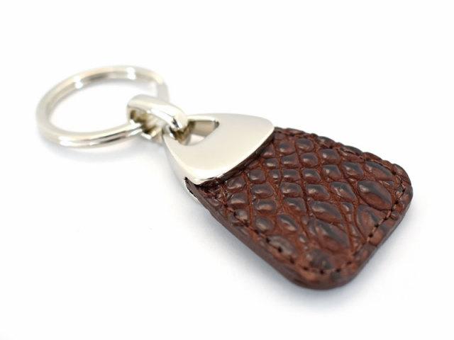 キーホルダーコレクション マットクロコダイル キーホルダー 「プレリーギンザ」 NP51840 チョコ 正面