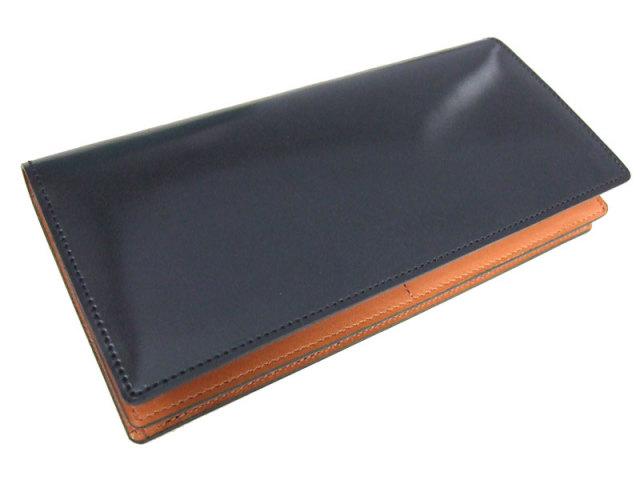 NP53033 コードバン ナチュラルグレージング 長財布  「プレリーギンザ」 クロ 正面