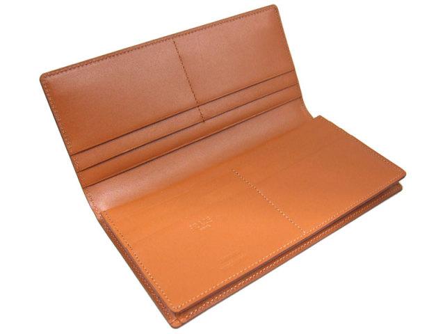 NP53033 コードバン ナチュラルグレージング 長財布  「プレリーギンザ」 チョコ 内作り