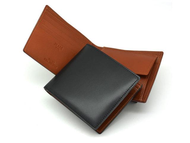 NP53130 コードバン ナチュラルグレージング 二つ折り財布(小銭入れあり)  「プレリーギンザ」 クロ 特徴
