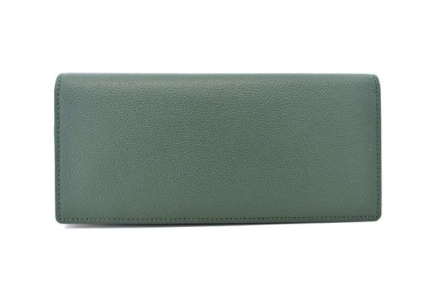 KOBE LEATHER(神戸レザー) 長財布(小銭入れあり)「プレリーギンザ」 NP55017 グリーン 正面