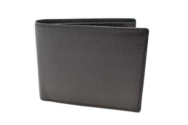 KOBE LEATHER(神戸レザー) 二つ折り財布(小銭入れあり)「プレリーギンザ」 NP55115 クロ 正面