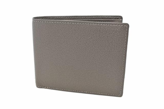 KOBE LEATHER(神戸レザー) 二つ折り財布(小銭入れあり)「プレリーギンザ」 NP55115 グレー 正面
