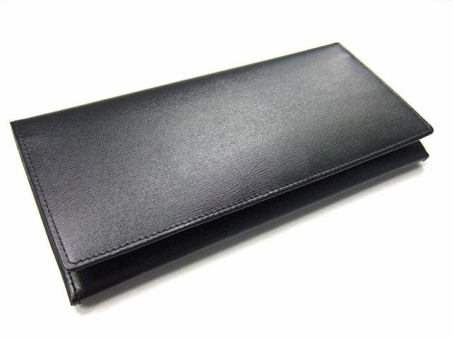 ボックスカーフヴェネチアン 長財布(小銭入れあり) 「プレリーギンザ」 NP56020 クロ 正面