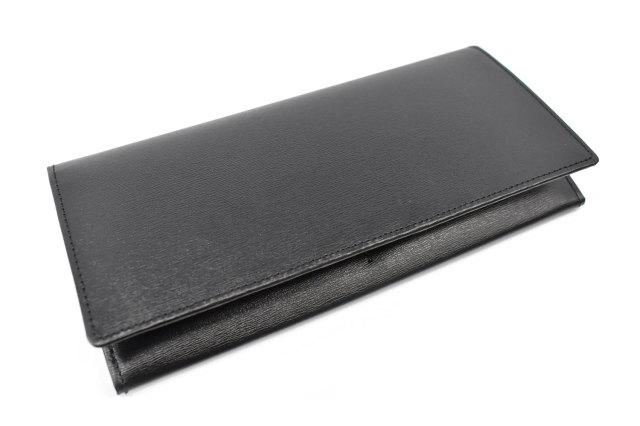 ボックスカーフ ヴェネチアンレザー  長財布  「プレリーギンザ」 NP56020 クロ/クロ 正面