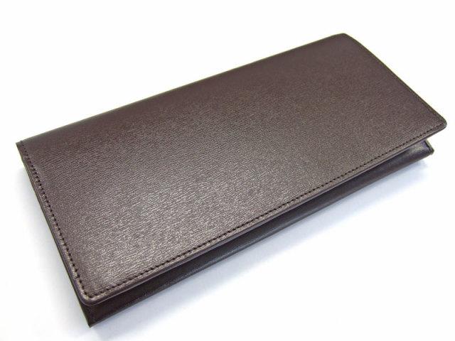 ボックスカーフヴェネチアン 長財布(小銭入れあり) 「プレリーギンザ」 NP56020 チョコ 正面