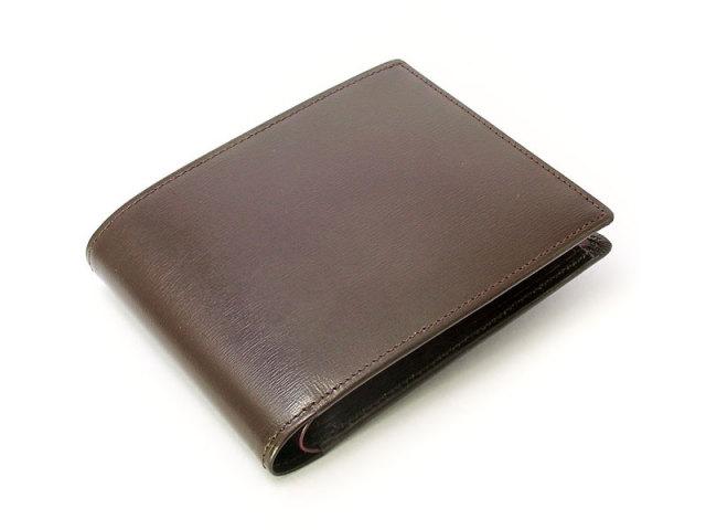 ボックスカーフヴェネチアン 二つ折り財布(小銭入れあり) 「プレリーギンザ」 NP56118 チョコ 正面