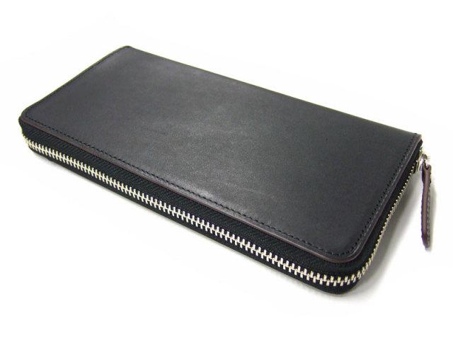Classico(クラシコ) ラウンドファスナー長財布(小銭入れあり) 「プレリーギンザ」 NP57024 クロ 正面