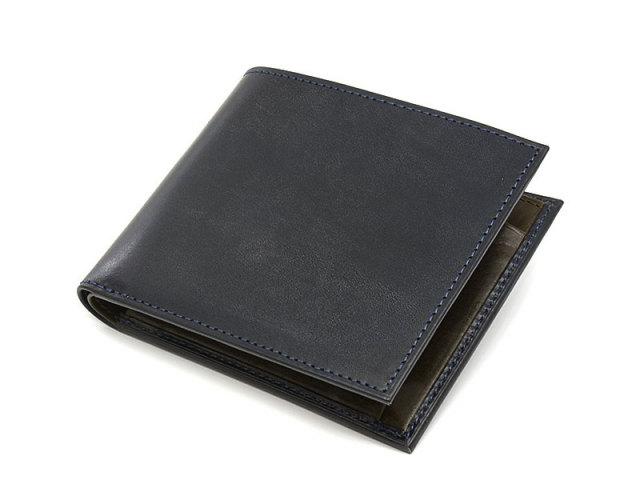 NP58224 Fusion(フュージョン) 二つ折り財布(小銭入れあり)  「プレリーギンザ」 ネイビー 正面