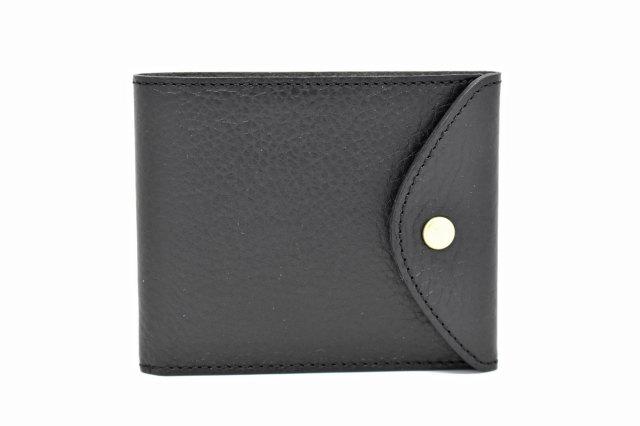 ミニマルクラシック 二つ折り財布(小銭入れなし) 「プレリーギンザ」 NP59117 ブラック 正面