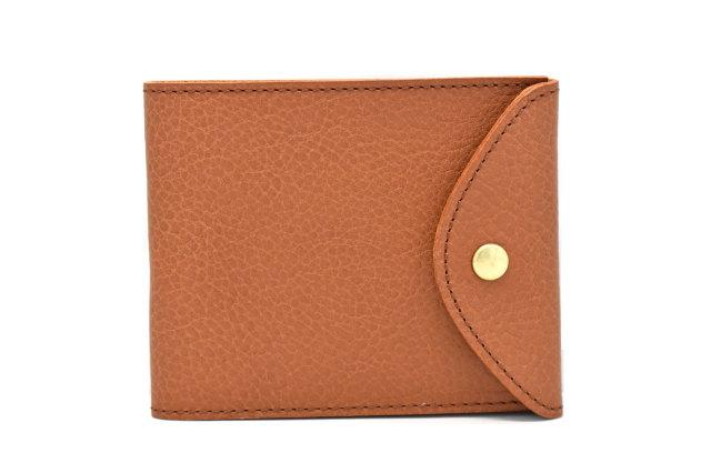 ミニマルクラシック 二つ折り財布(小銭入れなし) 「プレリーギンザ」 NP59117 ブラウン 正面