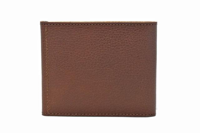 ミニマルクラシック 二つ折り財布(小銭入れなし) 「プレリーギンザ」 NP59117 ダークブラウン 裏面