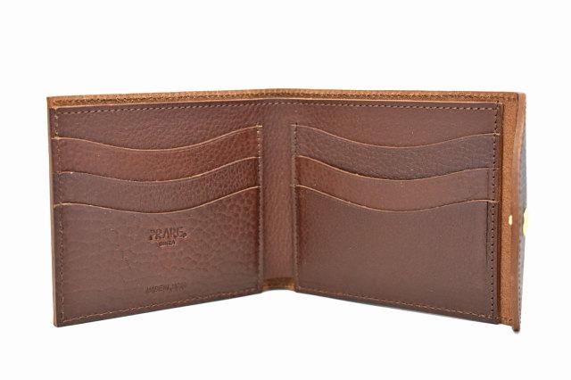 ミニマルクラシック 二つ折り財布(小銭入れなし) 「プレリーギンザ」 NP59117 ダークブラウン 内作り