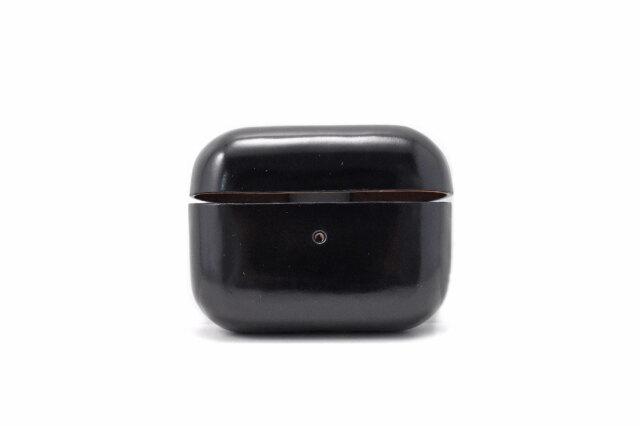 AirPods Pro Leathercase KICS(エアーポッツプロ レザーケース) 「プレリーギンザ」 NP71398 ブラック 正面