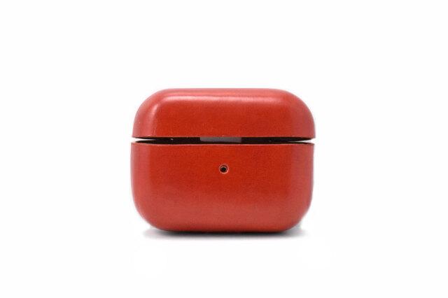 AirPods Pro Leathercase KICS(エアーポッツプロ レザーケース) 「プレリーギンザ」 NP71398 レッド 正面