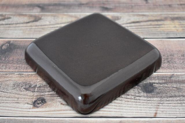 Artigiano(アルチジャーノ) 牛革トレー正方形  「プレリーギンザ」 NP72013 ダークブラウン 裏面