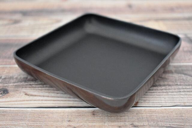 Artigiano(アルチジャーノ) 牛革トレー正方形  「プレリーギンザ」 NP72013 ダークブラウン 正面