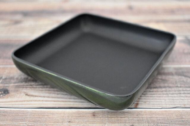 Artigiano(アルチジャーノ) 牛革トレー正方形  「プレリーギンザ」 NP72013 グリーン 正面