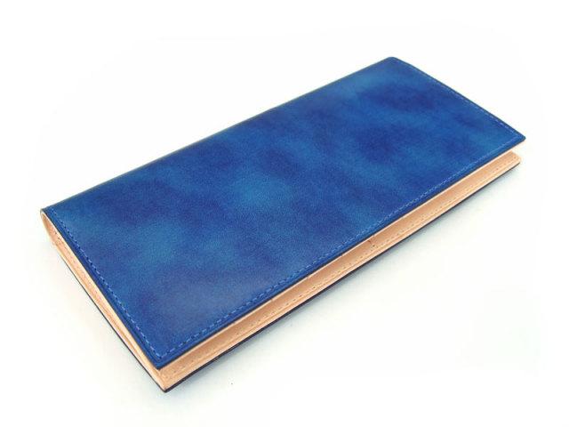 Patine(パティーヌ) 長財布(小銭入れあり) 「プレリーギンザ」 NP76023 ブルー 正面