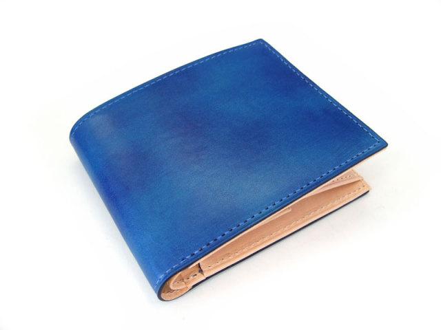 Patine(パティーヌ) 二つ折り財布(小銭入れあり) 「プレリーギンザ」 NP76220 ブルー 正面